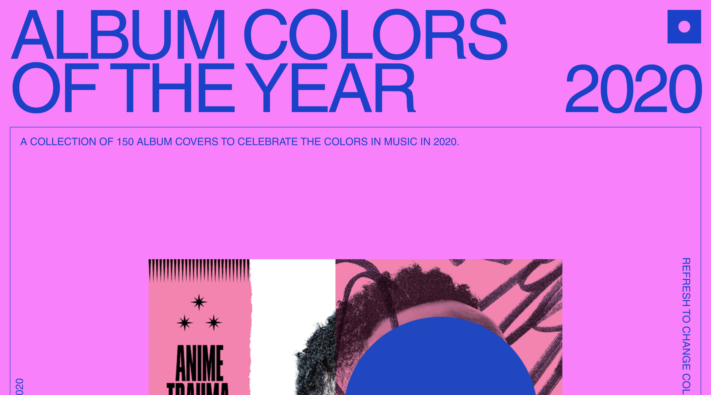Album Colors Of The Year website