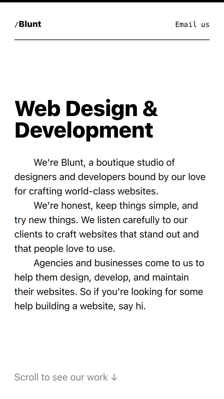Blunt website