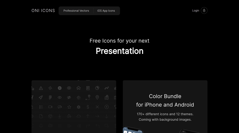 Minimalist Icons website