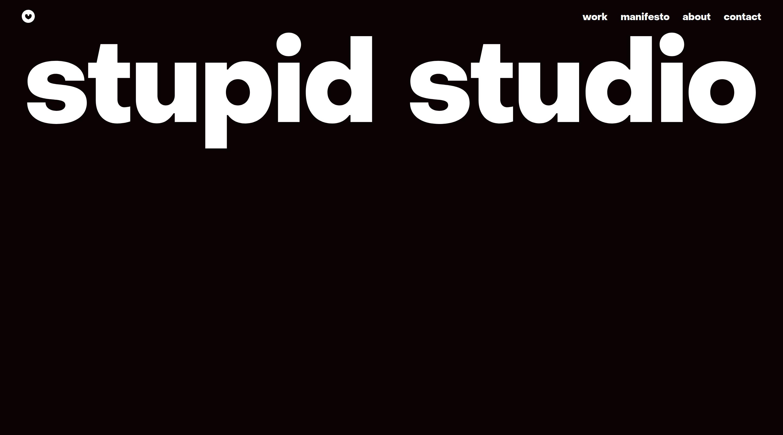 Stupid Studio website